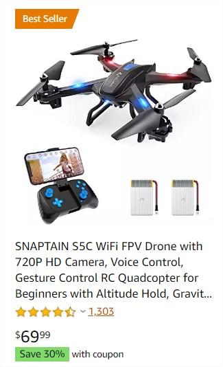Nagyon közkedvelt, keresett Amazon termékek-drone with camera