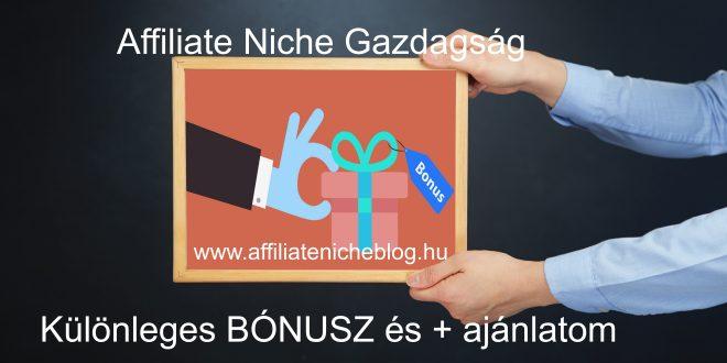 Csatlakozz a Wealthy Affiliate programhoz és megkapod a Különleges BONUS és ajánlatomat