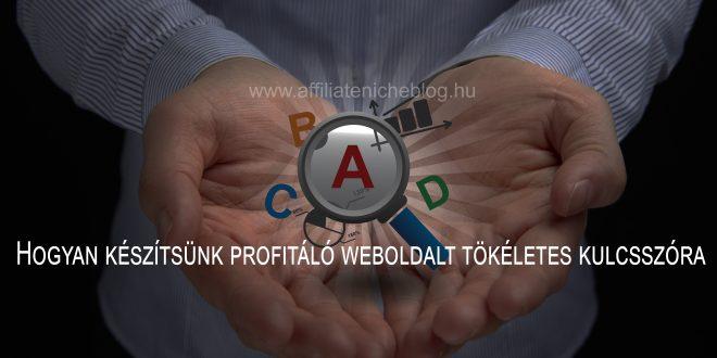 Hogyan készítsünk profitáló weboldalt tökéletes kulcsszóra