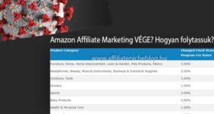 Amazon Affiliate Marketing VÉGE? Hogyan folytassuk?