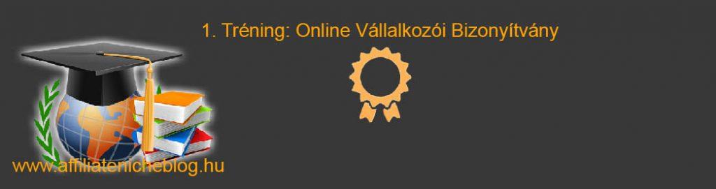 Az online vállalkozói bizonyítvány tréning: Szerezz egy üzleti vállalkozást kurzus. Angol és magyar nyelvű 10 leckéje